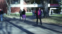 College students on campus - stock footage