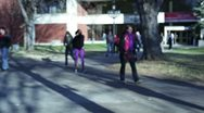 College students on campus Stock Footage