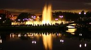 Stock Video Footage of The beautiful city fountain at night