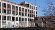 Detroit Factory Ruins 4 Stock Footage