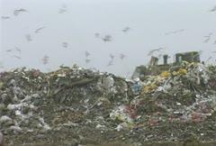 Landfills garbage Stock Footage