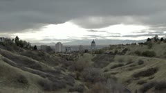 Utah State Capital building looking into valley P HD 0563 Stock Footage