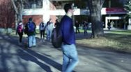 Stock Video Footage of College students on campus