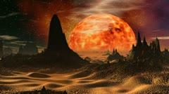Sunrise on Venus Stock Footage