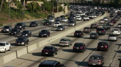 Traffic on Highway 101 in Los Angeles HD Stock Footage