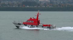 Marine transportation, pilot boat, paralleling alongside and turn, match speed, Stock Footage