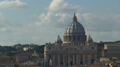 Rome Vatican St. Peter basilica cathedral Stock Footage