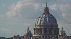 Rome Vatican St. Peter cathedral basilica dome Stock Footage