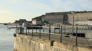 Stock Video Footage of Sutton Harbour and The Royal Citadel, Plymouth, UK