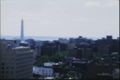 Vintage 8mm film, D.C. skyline 1951 - stock footage