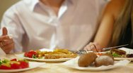 Dinner for Two Stock Footage
