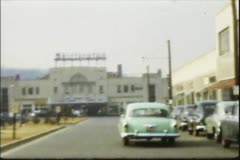 Vintage 8mm film, Shirlington Theatre - stock footage