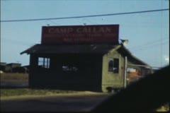 Vintage 8mm film, U.S. Army Camp Callan,1941 Stock Footage