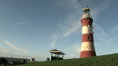 Plymouth Hoe Lighthouse Stock Footage