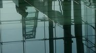 Person's shadow,Figure reflection on marble floor at Luxury mall,shadow,hall,ov Stock Footage