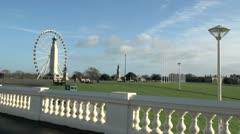 Plymouth Hoe Big Ferris Wheel Stock Footage