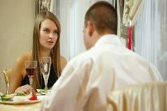 Romantic dinner date Stock Footage
