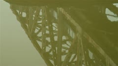 Bridge Reflection in Water - stock footage