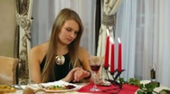 Stock Video Footage of Woman In Restaurant