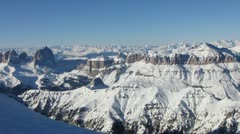 HD: Panoramic View Of Spectacular Italian Dolomites Stock Footage