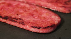 Frying Spam - stock footage