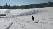 Stock Video Footage of HD: Man Cross-Country Skiing