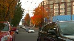 Seattle street scene with traffic Stock Footage