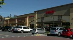 Strip Mall1 Stock Footage