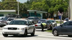 Aftermath of a Police Car Chase Stock Footage
