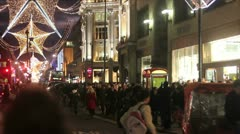 Christmas Shoppers- time lapse Stock Footage