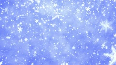 New Year's frosty background and falling snowflakes Stock Footage