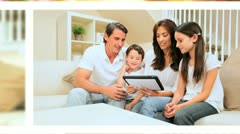 Technology Lifestyle of Young Caucasian Family Stock Footage