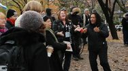 Protest singers. Occupy Toronto. Stock Footage