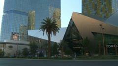 Las Vegas Strip, day, crystal pan, very high end shopping Stock Footage