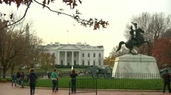 Jackson Statue and White House (LP-Washington-035) Stock Footage
