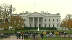 Tourists at the White House (LP-Washington-038) Stock Footage