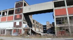 Detroit Factory Ruins 9 Stock Footage