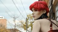 Street mannequin. Stock Footage