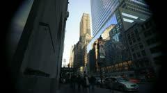 NYC Timelapse - manhattan canyon 09 - stock footage
