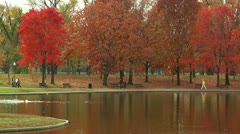 Walking by the Constitution Gardens Pond (LP-Washington-079) Stock Footage