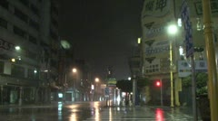 Hurricane Winds Tear Through City At Night - stock footage