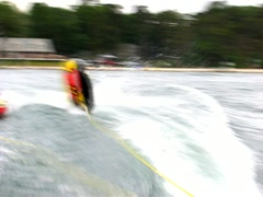 Tubing wake woes Stock Footage