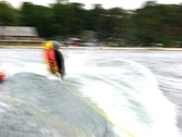 Stock Video Footage of Tubing wake woes