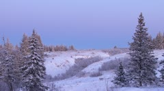 Winter Evening Static Scenic 1 Stock Footage