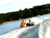 Summer teen tubing 2 Stock Footage