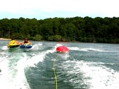 Stock Video Footage of Summer triple teen tubing 1