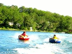 Summer teen tubing 7 - stock footage