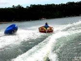 Stock Video Footage of Summer triple teen tubing 2