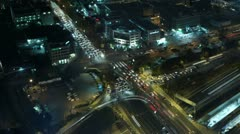 Tel Aviv timelapse traffic at junction Stock Footage