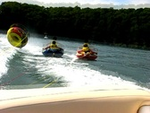 Stock Video Footage of Summer triple teen tubing 5
